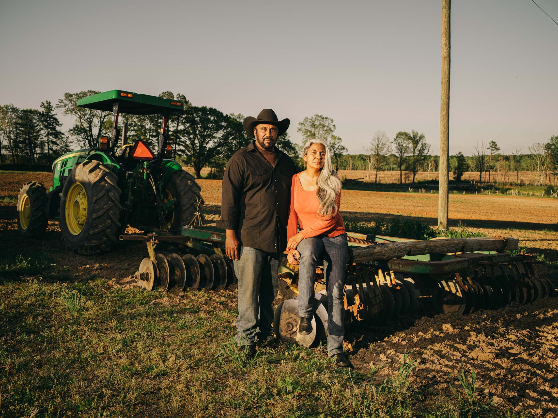 John Boyd Jr. and wife Kara Brewer Boyd on tractor