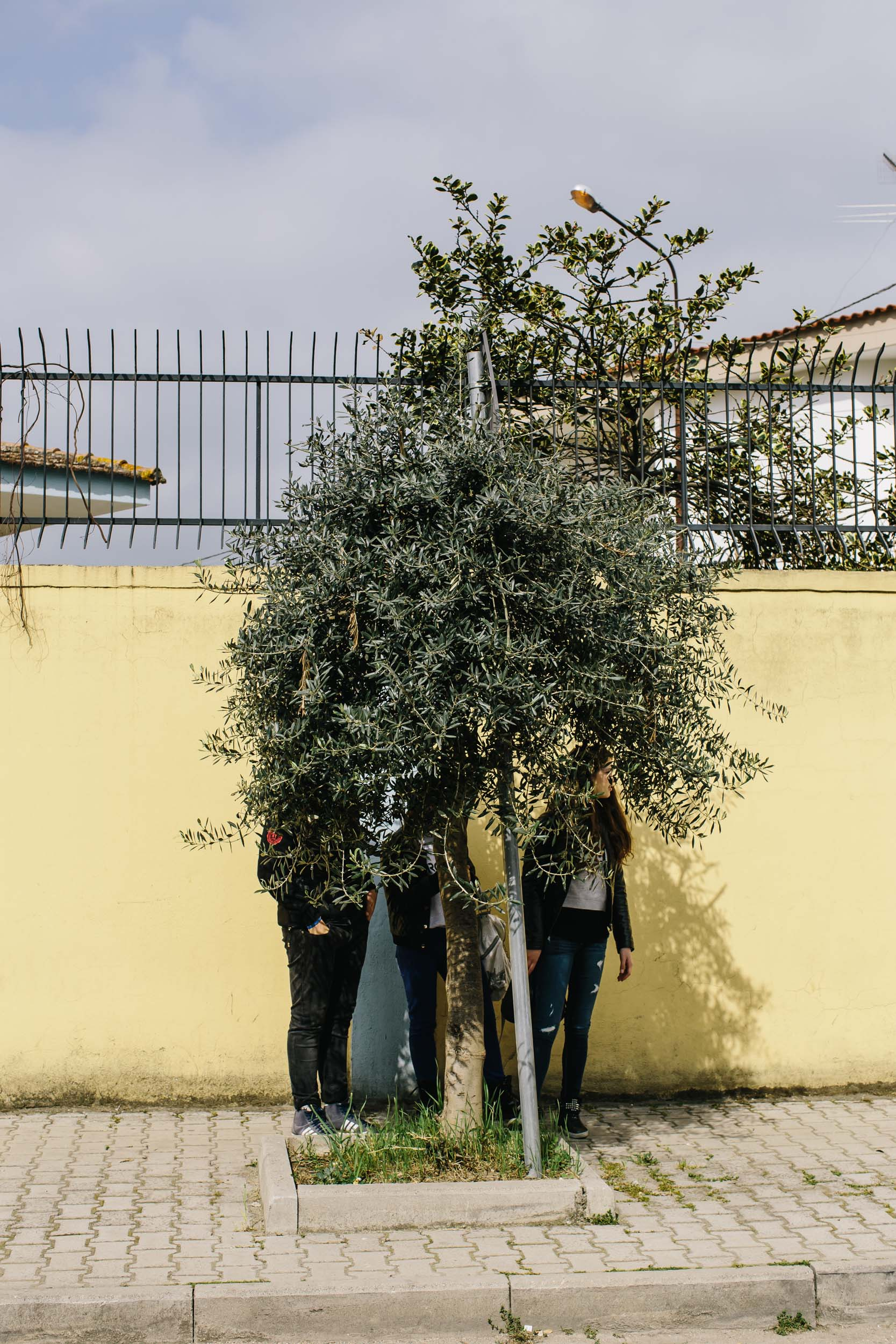 Teenagers watch the annual protest to mark the murder of Giuseppe Diana