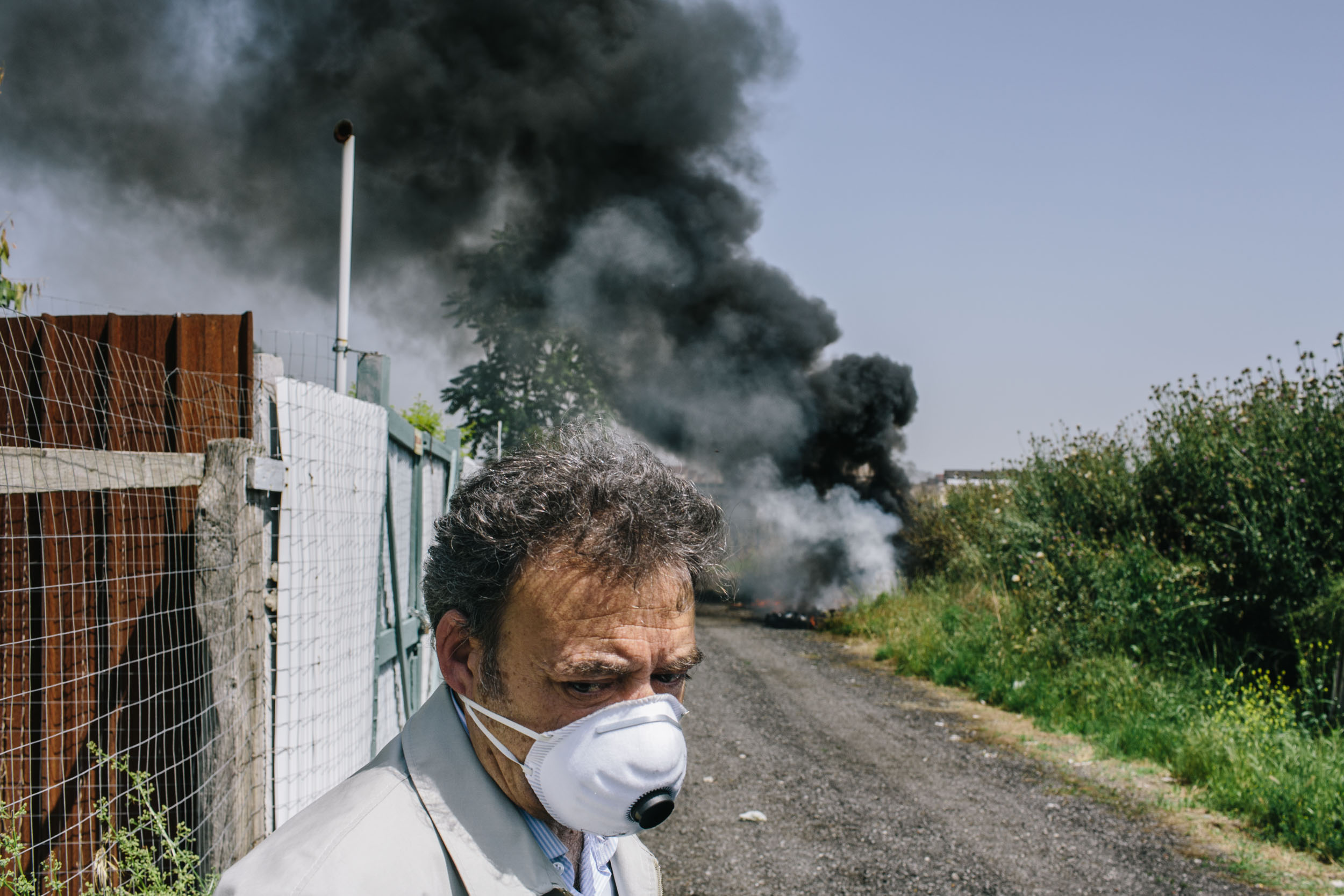 Officials locate a toxic fire deep in the countryside in a town called Pascarola