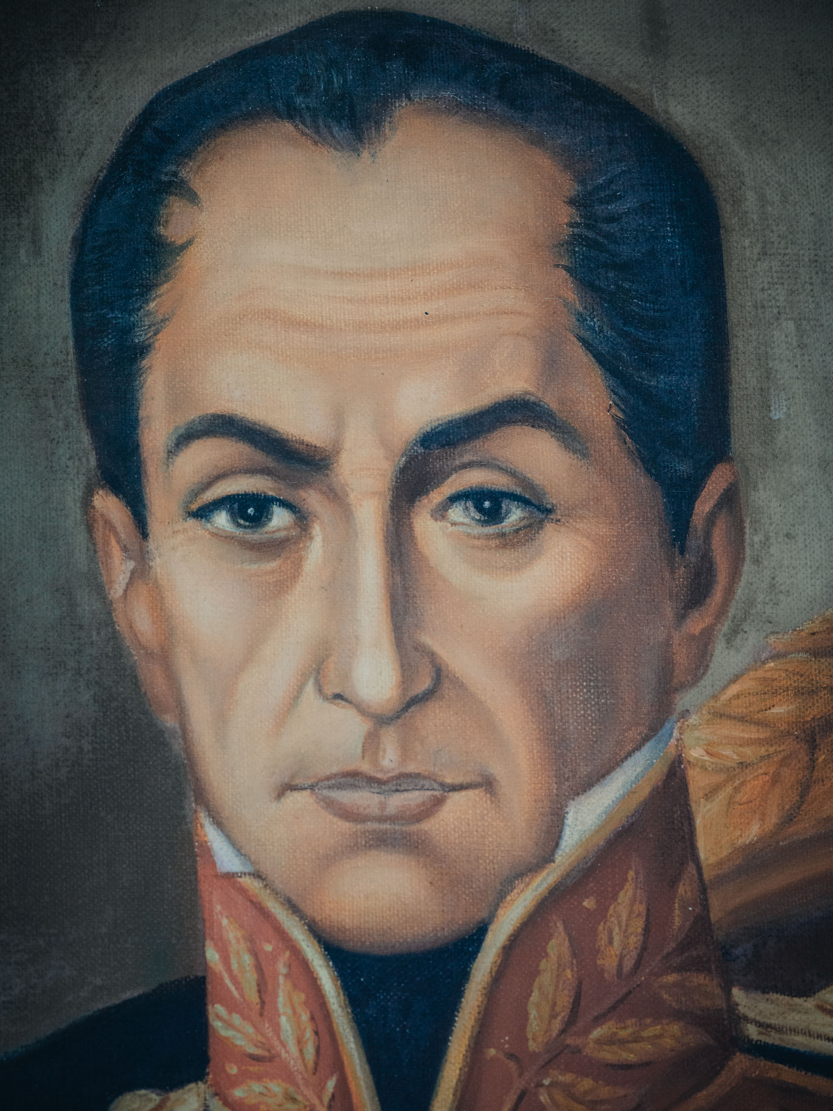 Detail painting of Simon Bolivar