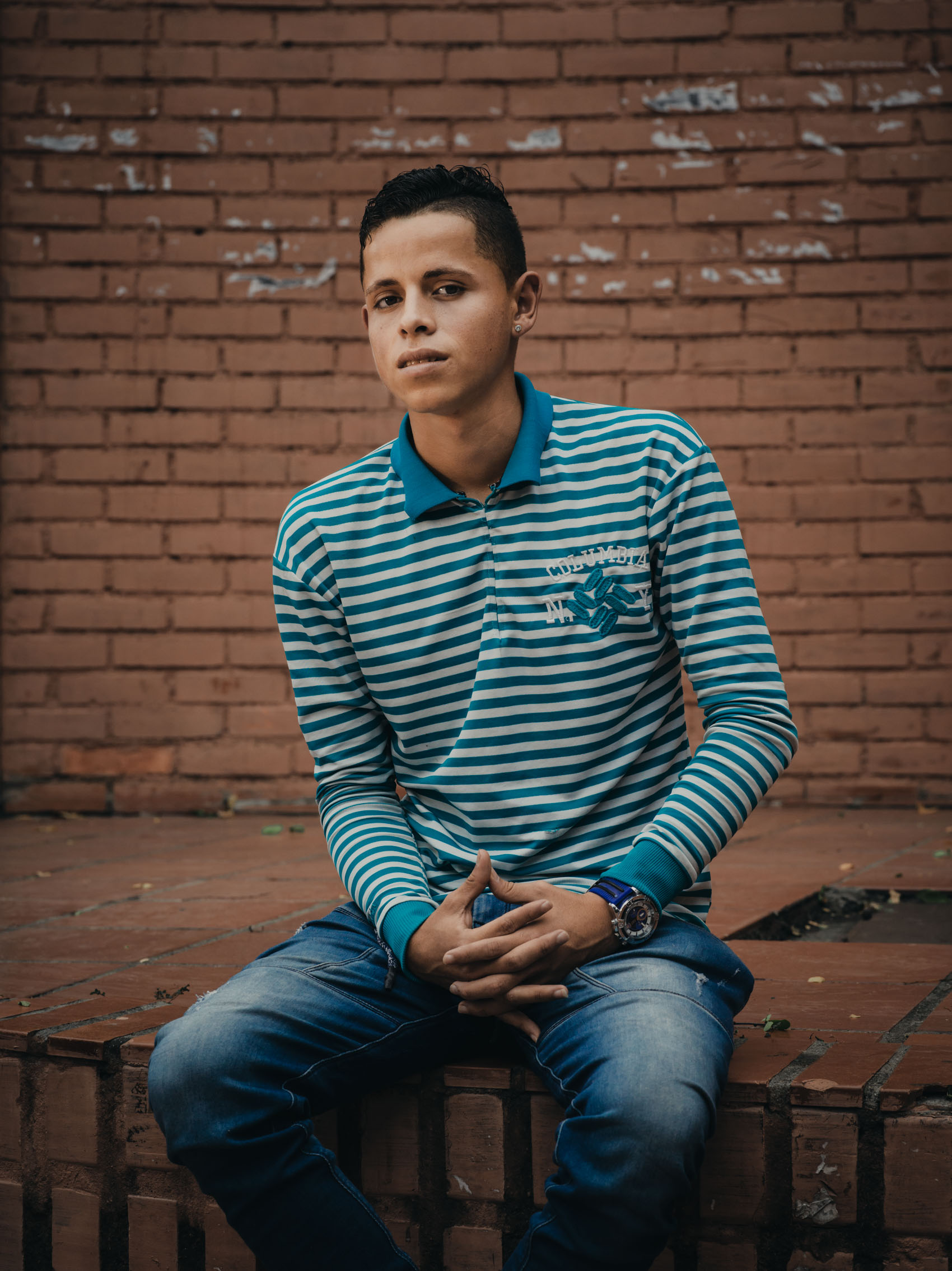 Portrait of Venezuelan refugee