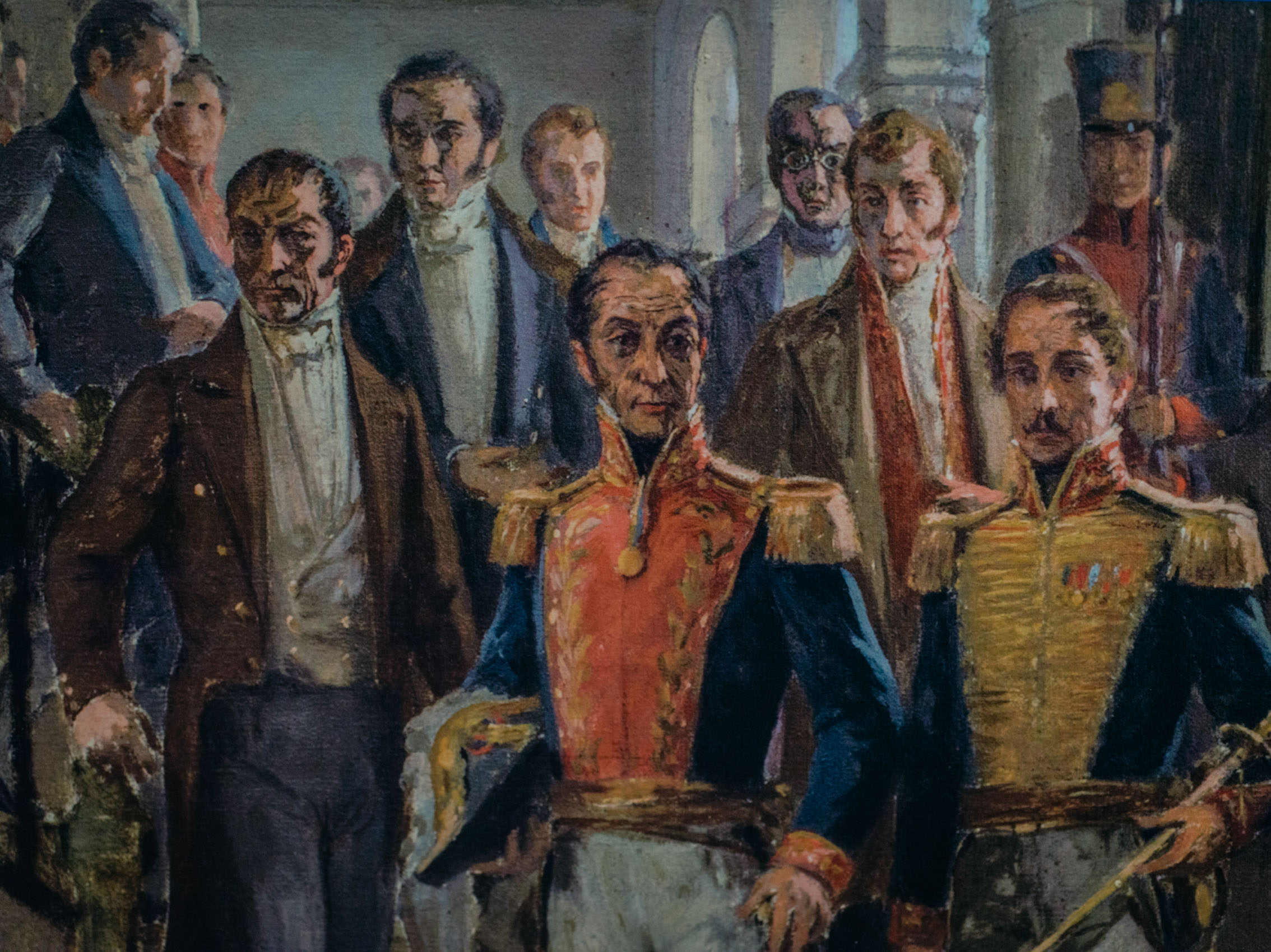 Detail of painting of Simon Bolivar