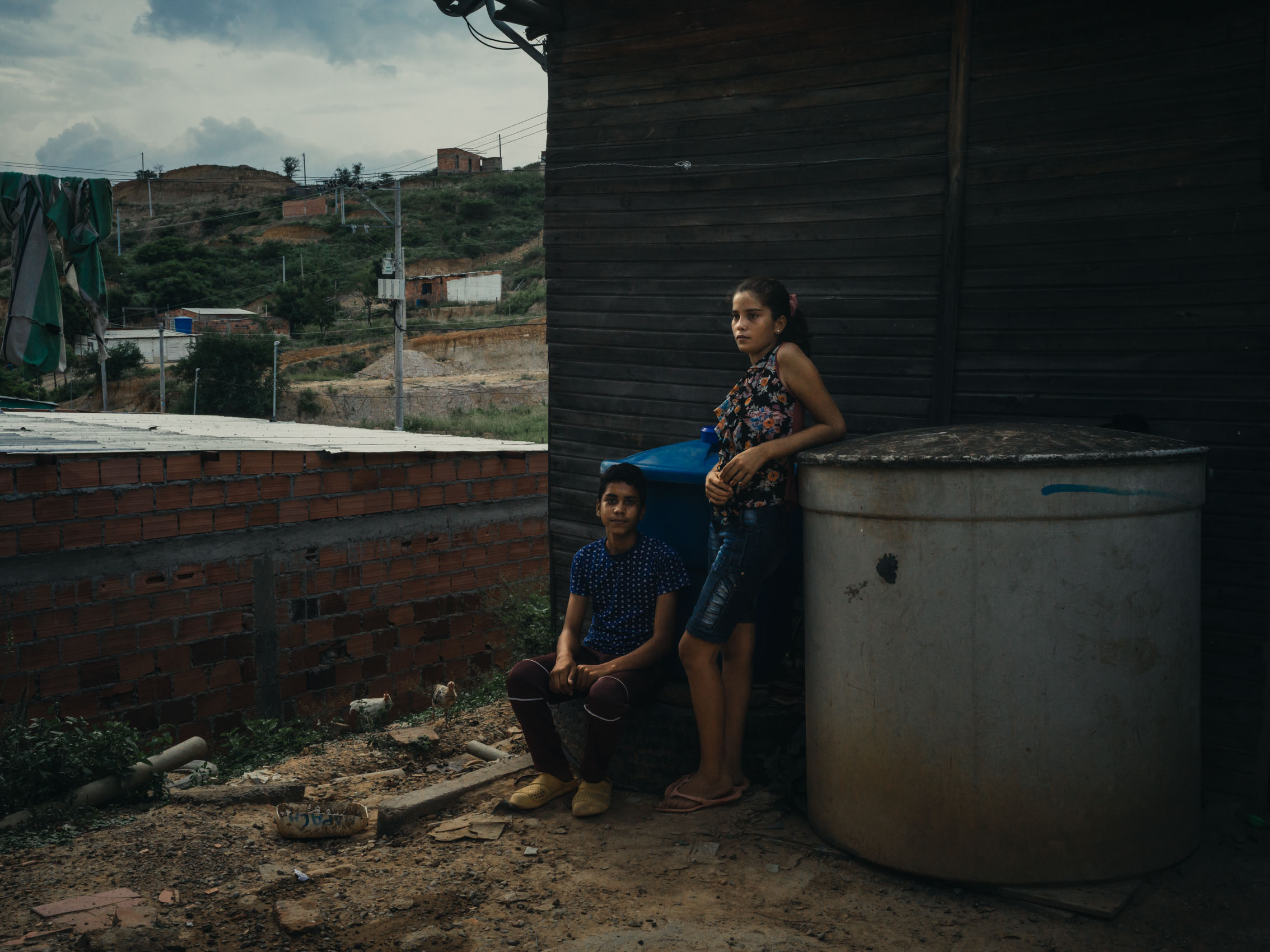 portrait of Venezuelan refugees