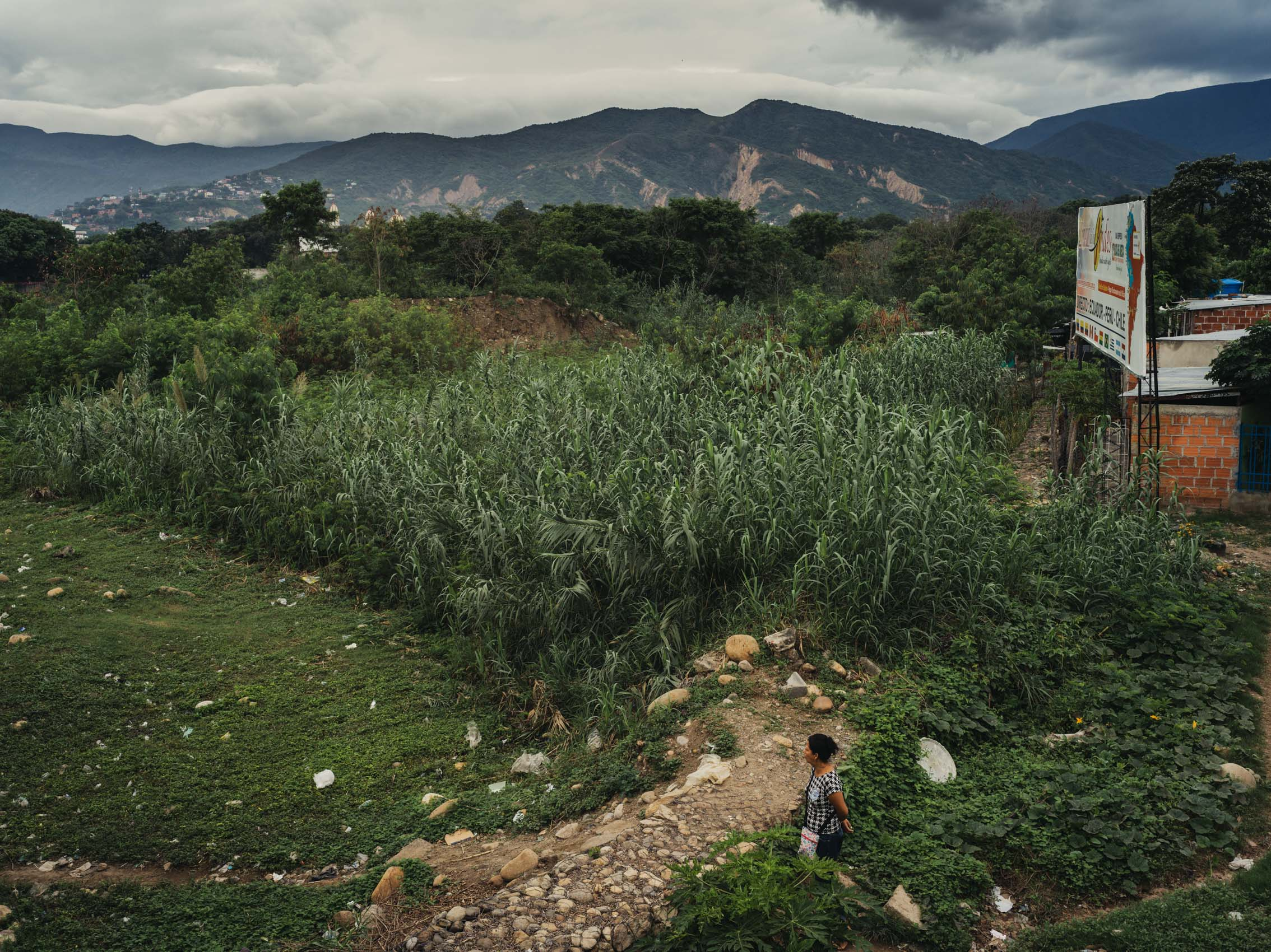 landscape of border between Venezuela and Colombia